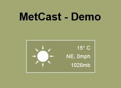 Simple jQuery Plugin For Customizable Weather Widget - MetCast