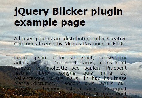 Simple jQuery Plugin For Fullscreen Background Slideshow - Blicker