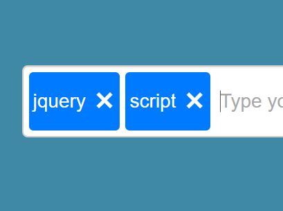 Simple jQuery Plugin For Handling Input Of Tags - Input Tags