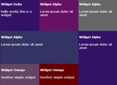 Simple jQuery Plugin For Matrix Style Grid Layout - Gridly.js