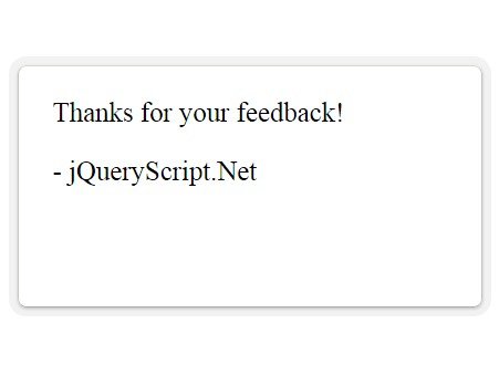 Simple jQuery Plugin For Popup Feedback Form - Feedback