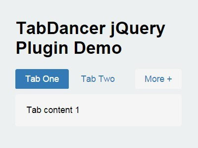 Simple jQuery Plugin For Responsive Tabs - TabDancer