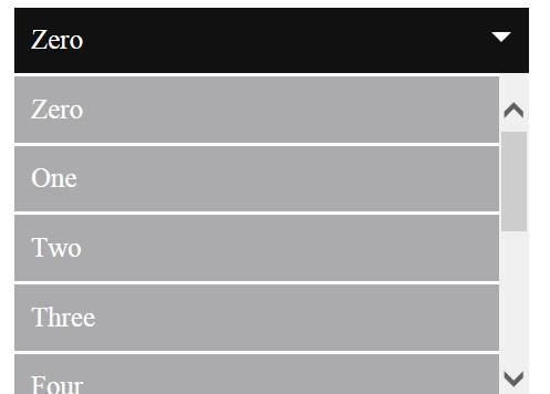 html select option list