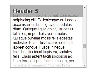 Simple jQuery Plugin For Sticky Headers On Scroll - stickyHeaders
