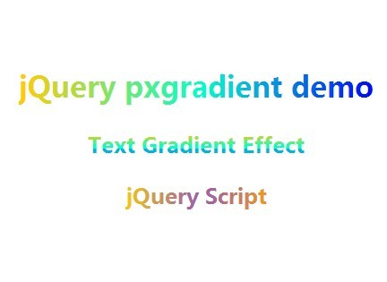 Simple jQuery Plugin For Text Gradient Effect - pxgradient