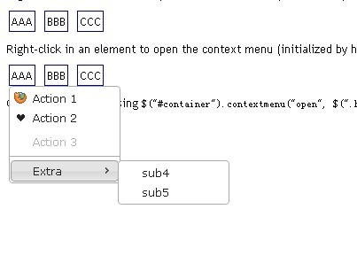 Simple jQuery & jQuery UI Right-Click Context Menu Plugin