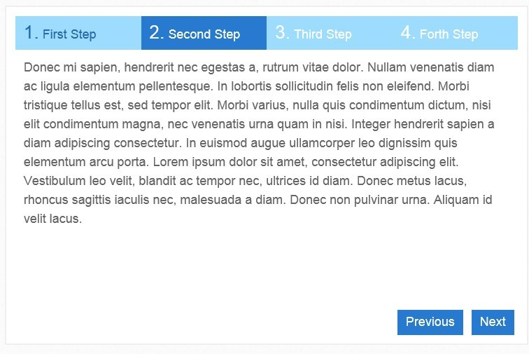 Simple jQuery Step Wizard Plugin - steps