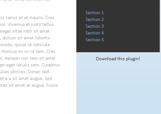 Simple jQuery Sticky Fixed Position Plugin - fixto