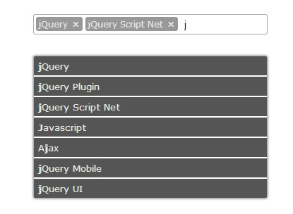 Simple jQuery Tagging & Tokenizer Input with Autocomplete - Tokens
