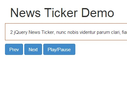 Simple jQuery Text Rotator Plugin For News Ticker On Your Site