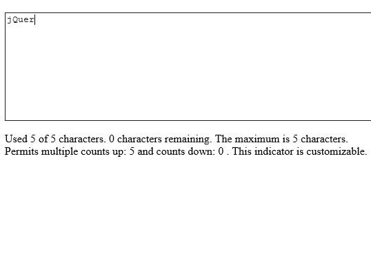 Simple jQuery Textarea Characters Limit Plugin - Stop Verbosity