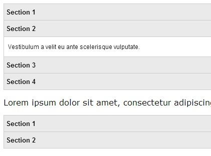 Simple jQuery Vertical Accordion with CSS3 Transitions