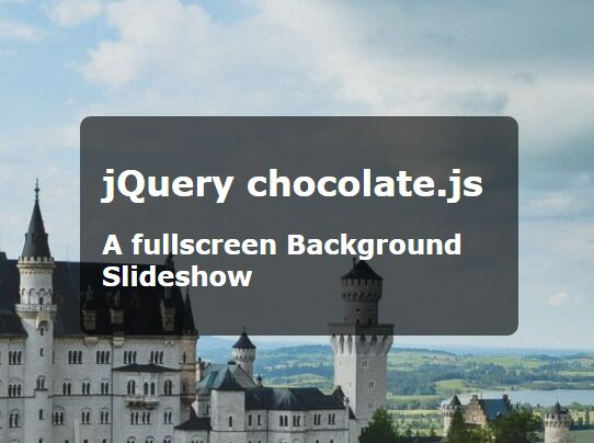 Simplest Fullscreen Background Slideshow With jQuery - Chocolate js