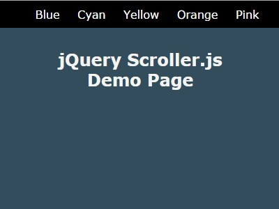 Simplest jQuery One Page Scroller Plugin