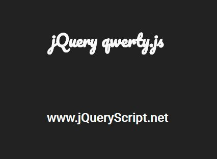 Simulate Typing And Deleting Text With jQuery - qwerty.js