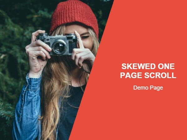 Skewed One Page Scrolling Effect with jQuery and CSS3 | Free