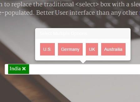 Sleek jQuery Popover Multi Select Plugin - popSelect
