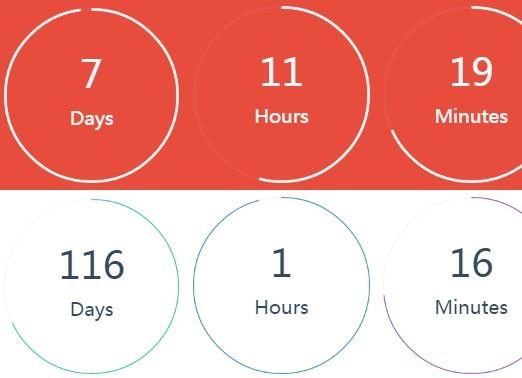 Slick Circular jQuery Countdown Plugin - Classy Countdown