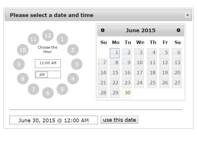 Datetime date