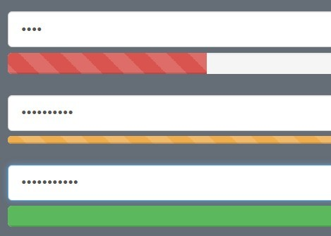 Slick Password Strength Indicator with jQuery and Bootstrap - BootstrapStrength.js