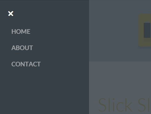Slick Slide Side Navigation with jQuery and CSS3