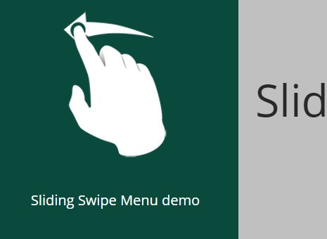 Slide and Swipe Mobile Menu Plugin with jQuery