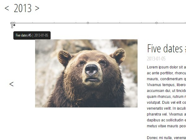 Slider-style Simple jQuery Timeline Plugin