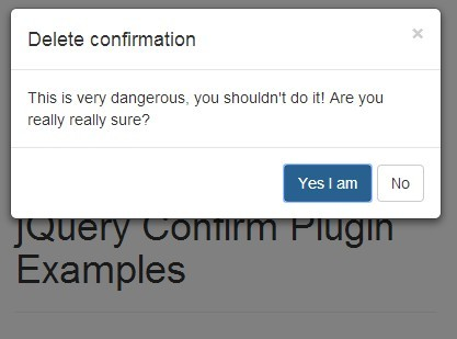 Sliding Confirm Dialog Plugin with jQuery and Bootstrap - Confirm