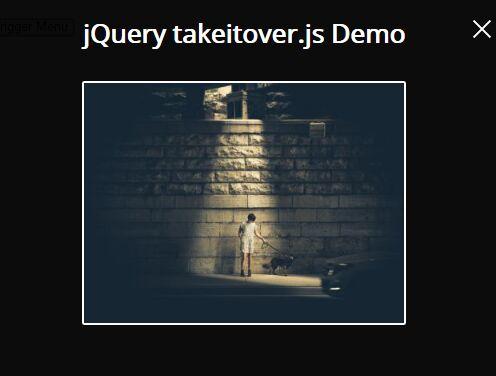 Sliding Fullscreen Modal Plugin For jQuery - takeitover.js