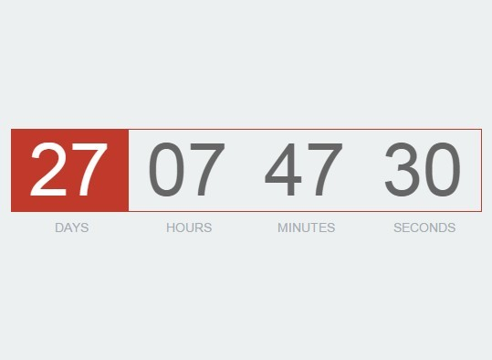 Slim Countdown Timer Plugin with jQuery - DownCount