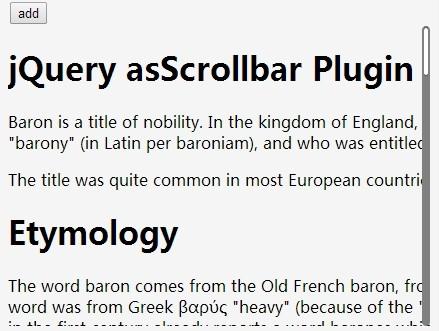 Slim Custom Scrollbar Plugin For jQuery - asScrollbar | Free jQuery