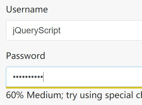Slim Password Strength Meter Plugin For jQuery