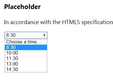 Small Accessible jQuery Dropdown Time Picker - qcTimepicker