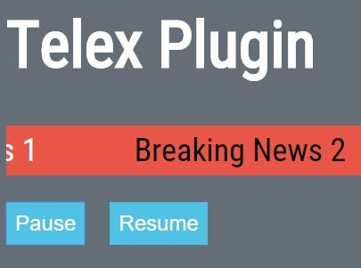 Small News Scroller Plugin with jQuery and jQuery UI - Telex