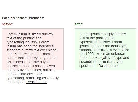 Smart & Cross-Browser Long Text Truncating Plugin For jQuery - dotdotdot