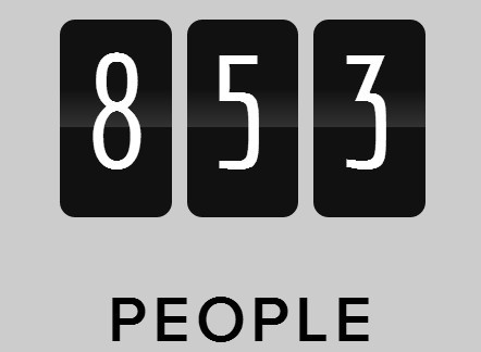 Smooth Animated Numbers with Javascript and CSS3 - odometer