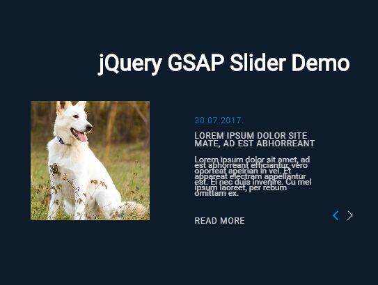 Smooth Carousel Slider With jQuery And GSAP