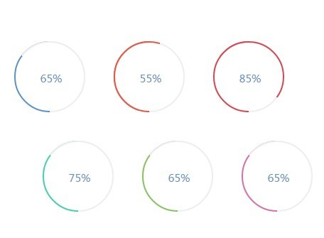 Smooth Circle Chart Plugin with jQuery and CSS3 - Circle Charts