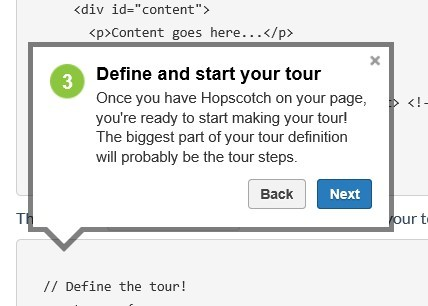 Smooth and Lightweight jQuery Site Feature Tours Plugin - Hopscotch