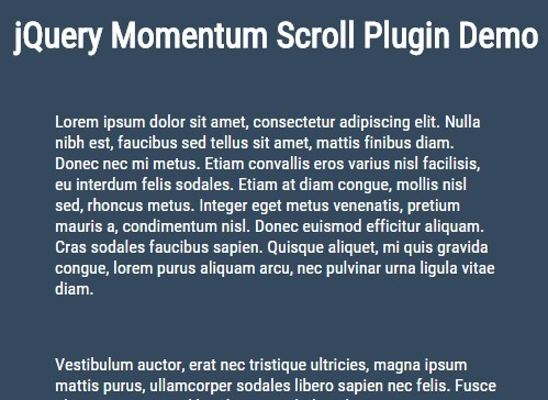 Smooth Momentum Scrolling Effect with jQuery - Momentum Scroll