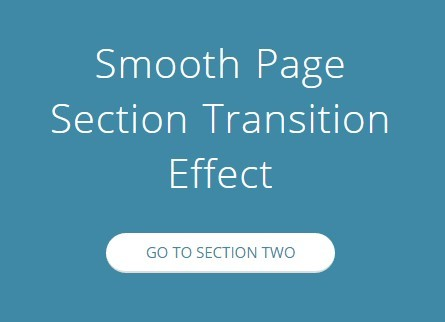 Smooth Page Section Transition Effect with jQuery