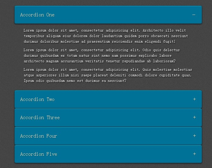 Smooth and Responsive Content Accordion Plugin - rlaccordion