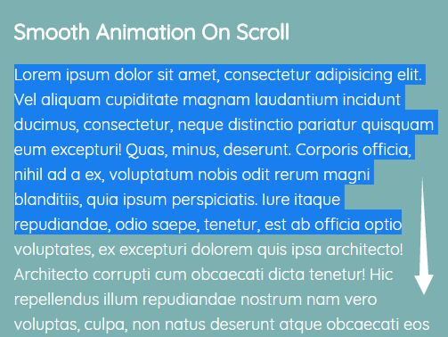 Smoothly Scroll Body With Animation - jQuery smoothScroll