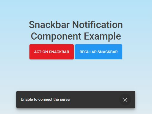 Snackbar Notification Component For jQuery - js-snackbar