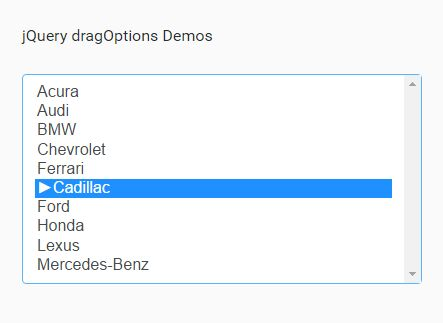 Sorting Select Options With Drag And Drop - jQuery dragOptions