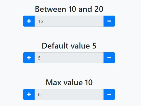 Convenient Spin Box For Number Input - jQuery InputCounter