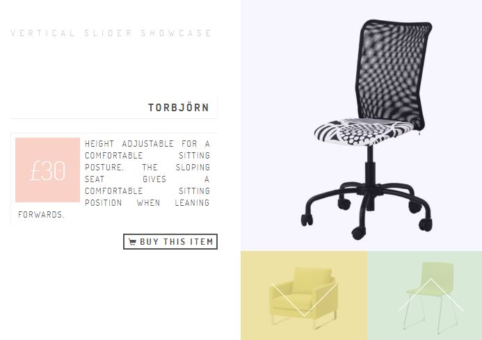Split Vertical Product Showcase Plugin With jQuery