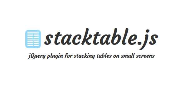 Stacking Tables On Small Screens with jQuery - stacktable