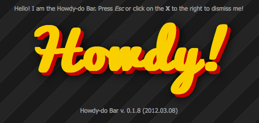 Stackoverflow Like Notification Bar for jQuery - Howdy-do