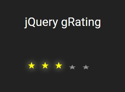 Animated Configurable Star Rating Plugin - jQuery gRating